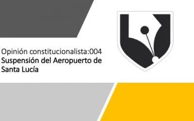 La suspensión del Aeropuerto de Santa Lucía